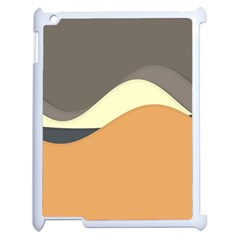 Wave Chevron Waves Material Apple Ipad 2 Case (white) by Mariart