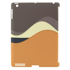 Wave Chevron Waves Material Apple Ipad 3/4 Hardshell Case (compatible With Smart Cover) by Mariart