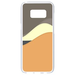 Wave Chevron Waves Material Samsung Galaxy S8 White Seamless Case