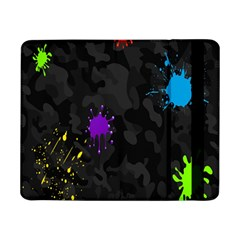 Black Camo Shot Spot Paint Samsung Galaxy Tab Pro 8 4  Flip Case by Mariart