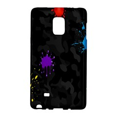 Black Camo Shot Spot Paint Galaxy Note Edge by Mariart