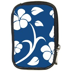 Blue Hawaiian Flower Floral Compact Camera Cases by Mariart