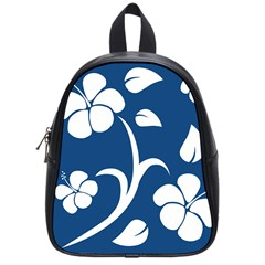 Blue Hawaiian Flower Floral School Bags (small)  by Mariart