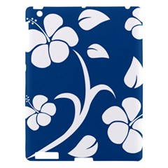 Blue Hawaiian Flower Floral Apple Ipad 3/4 Hardshell Case by Mariart