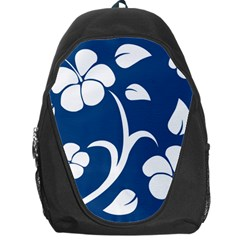 Blue Hawaiian Flower Floral Backpack Bag by Mariart