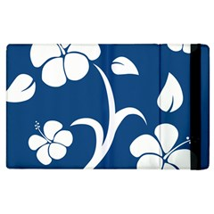 Blue Hawaiian Flower Floral Apple Ipad 2 Flip Case by Mariart