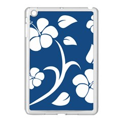 Blue Hawaiian Flower Floral Apple Ipad Mini Case (white) by Mariart