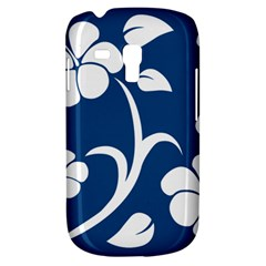 Blue Hawaiian Flower Floral Galaxy S3 Mini by Mariart