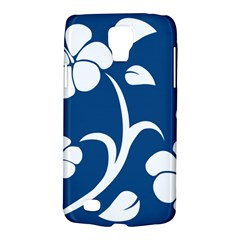 Blue Hawaiian Flower Floral Galaxy S4 Active by Mariart