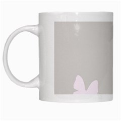 Butterfly Silhouette Organic Prints Linen Metallic Synthetic Wall Pink White Mugs
