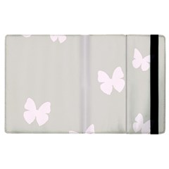 Butterfly Silhouette Organic Prints Linen Metallic Synthetic Wall Pink Apple Ipad 3/4 Flip Case by Mariart