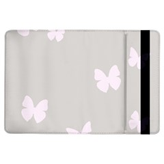 Butterfly Silhouette Organic Prints Linen Metallic Synthetic Wall Pink Ipad Air Flip by Mariart