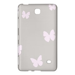 Butterfly Silhouette Organic Prints Linen Metallic Synthetic Wall Pink Samsung Galaxy Tab 4 (8 ) Hardshell Case  by Mariart