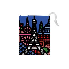7 Wonders World Drawstring Pouches (small)
