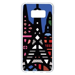 7 Wonders World Samsung Galaxy S8 Plus White Seamless Case
