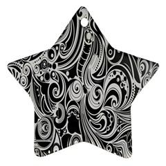 Black White Shape Ornament (star) by Mariart
