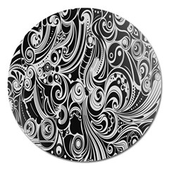 Black White Shape Magnet 5  (round) by Mariart