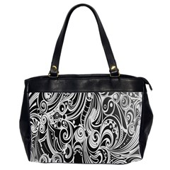 Black White Shape Office Handbags (2 Sides)  by Mariart