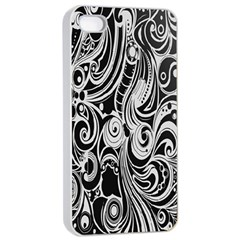 Black White Shape Apple Iphone 4/4s Seamless Case (white) by Mariart