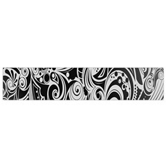 Black White Shape Flano Scarf (small) by Mariart