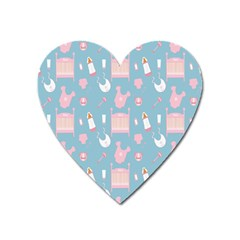 Baby Girl Accessories Pattern Pacifier Heart Magnet by Mariart