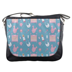 Baby Girl Accessories Pattern Pacifier Messenger Bags by Mariart