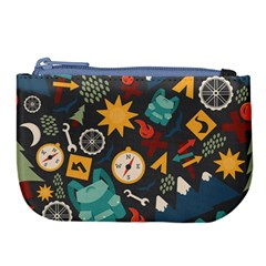 Compass Cypress Chair Arrow Wheel Star Mountain Large Coin Purse by Mariart