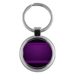 Board Purple Line Key Chains (round)  by Mariart