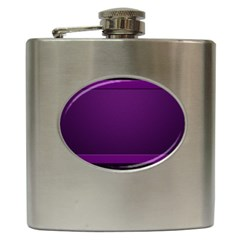 Board Purple Line Hip Flask (6 Oz) by Mariart