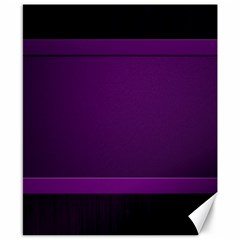 Board Purple Line Canvas 8  X 10  by Mariart