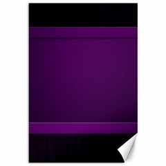 Board Purple Line Canvas 12  X 18   by Mariart