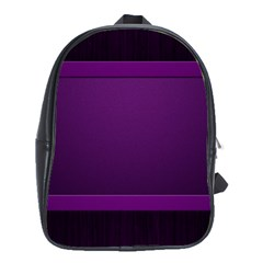 Board Purple Line School Bags(large)  by Mariart