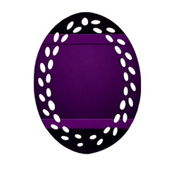 Board Purple Line Ornament (oval Filigree) by Mariart