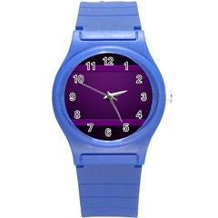 Board Purple Line Round Plastic Sport Watch (s) by Mariart