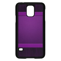 Board Purple Line Samsung Galaxy S5 Case (black) by Mariart