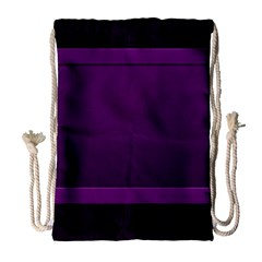 Board Purple Line Drawstring Bag (large) by Mariart