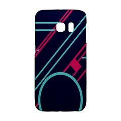 Flag Blue Orange Circle Polka Hole Space Galaxy S6 Edge by Mariart