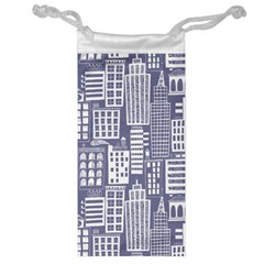 Building Citi Town Cityscape Jewelry Bag by Mariart