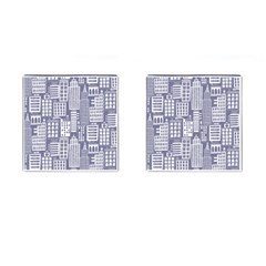 Building Citi Town Cityscape Cufflinks (square) by Mariart