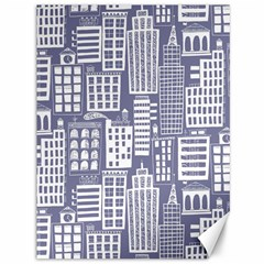 Building Citi Town Cityscape Canvas 36  X 48   by Mariart