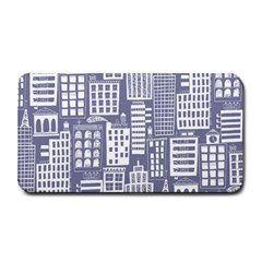 Building Citi Town Cityscape Medium Bar Mats by Mariart