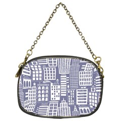 Building Citi Town Cityscape Chain Purses (one Side)  by Mariart