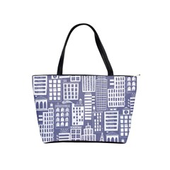 Building Citi Town Cityscape Shoulder Handbags by Mariart