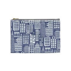 Building Citi Town Cityscape Cosmetic Bag (medium)  by Mariart