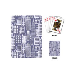 Building Citi Town Cityscape Playing Cards (mini)  by Mariart