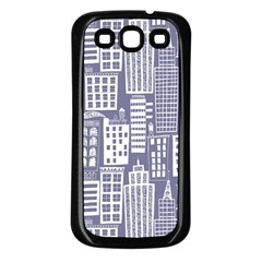 Building Citi Town Cityscape Samsung Galaxy S3 Back Case (black) by Mariart
