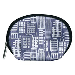 Building Citi Town Cityscape Accessory Pouches (medium)  by Mariart