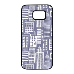 Building Citi Town Cityscape Samsung Galaxy S7 Edge Black Seamless Case by Mariart
