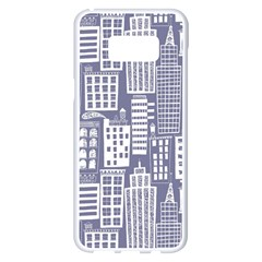 Building Citi Town Cityscape Samsung Galaxy S8 Plus White Seamless Case by Mariart