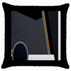 Flag Grey Orange Circle Polka Hole Space Throw Pillow Case (black) by Mariart